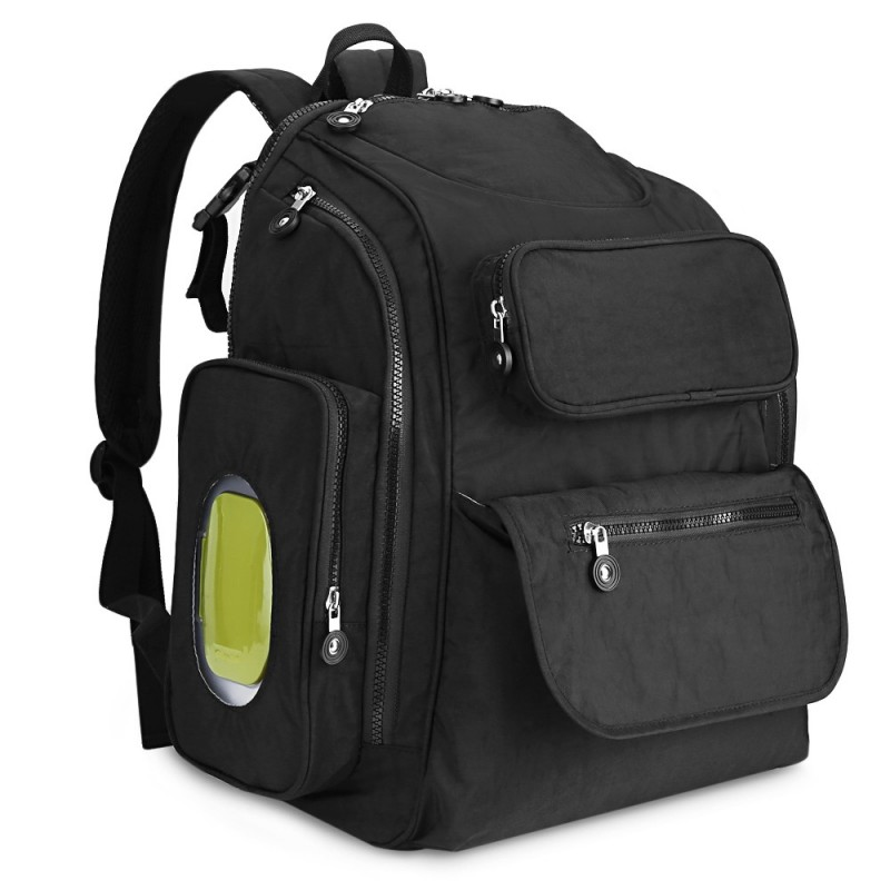 73003 Diaper Bag Large Capacity Multifunction Backpack - Black - 3375199512