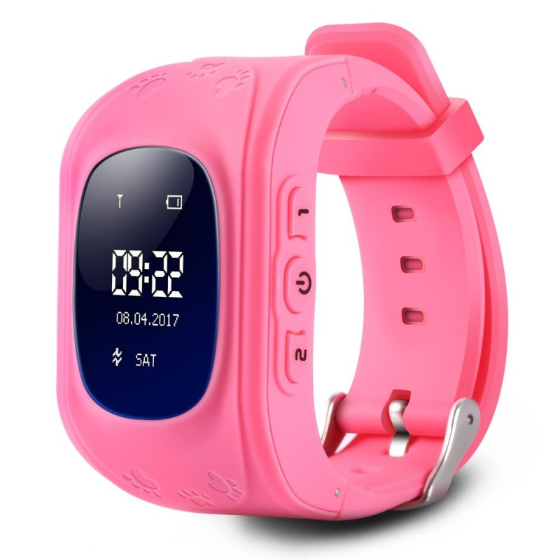 Q50 Children OLED Display GPS Intelligent Watch Telephone - Pink - 2O08342213