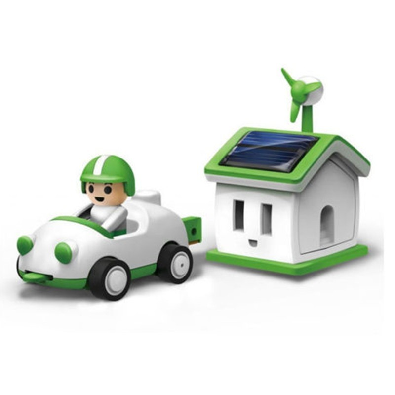 Solar Toy Green Life Rechargeable Kit Car Children Kids Game Gift - Multi - 3V82665112