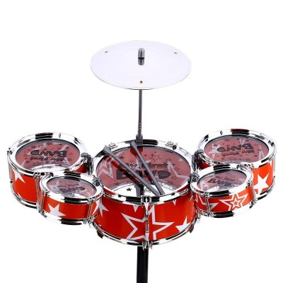 Wanyi Kids Deluxe Jazz Drums set Musical Instrument Toy Cymbal Stool baby Gift