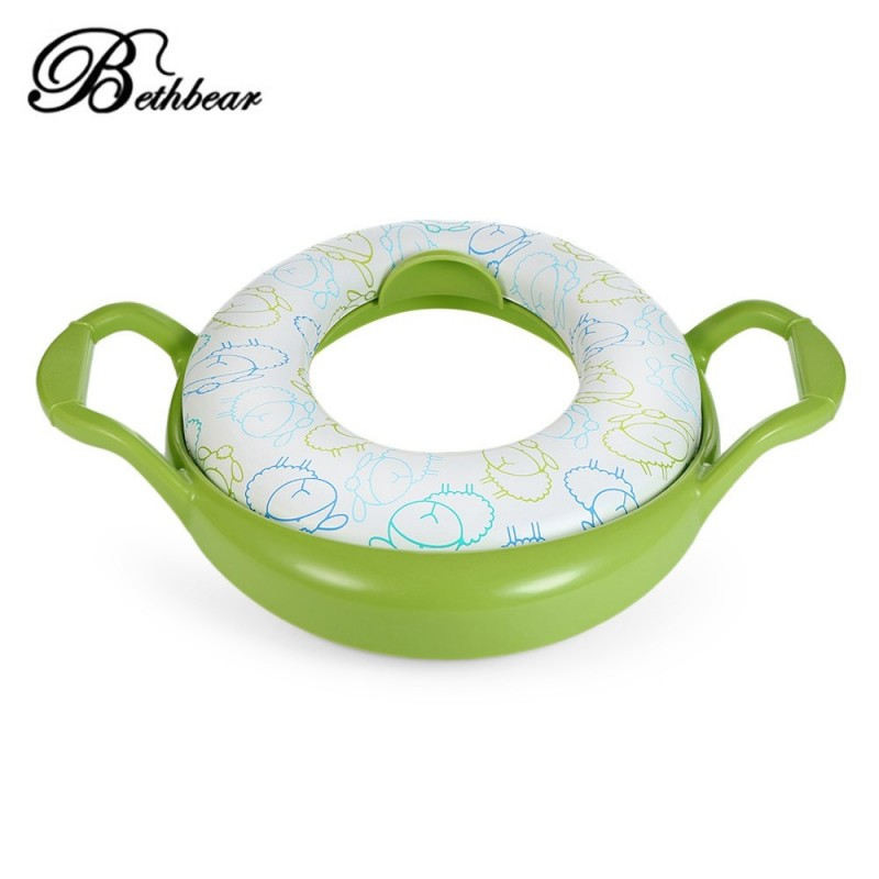 Bethbear Soft Training Potty Seat with Handles / Splash Guard for Boys / Girls - Green - 3883681414