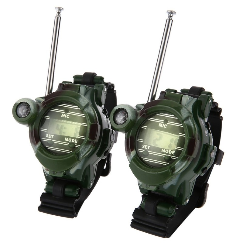 2pcs 7 in 1 Walkie Talkie Watch Camouflage Style Children Toy - Camouflage - 2A94681912