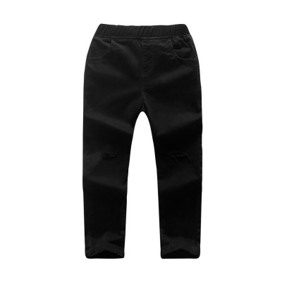Comfy Solid Pocket Jeans for Kids - Black - 3N57112125