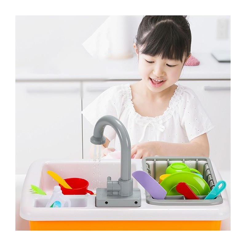 Automatic Circulation Water Educational Toy Dishwashing Set - Multi-G - 5C40396812