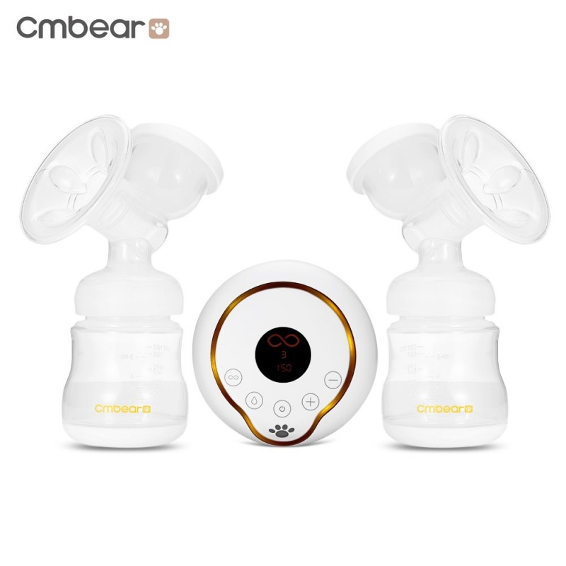 Cmbear PP USB Double Unilateral Breastfeeding Breast Pump - White - 3839642312