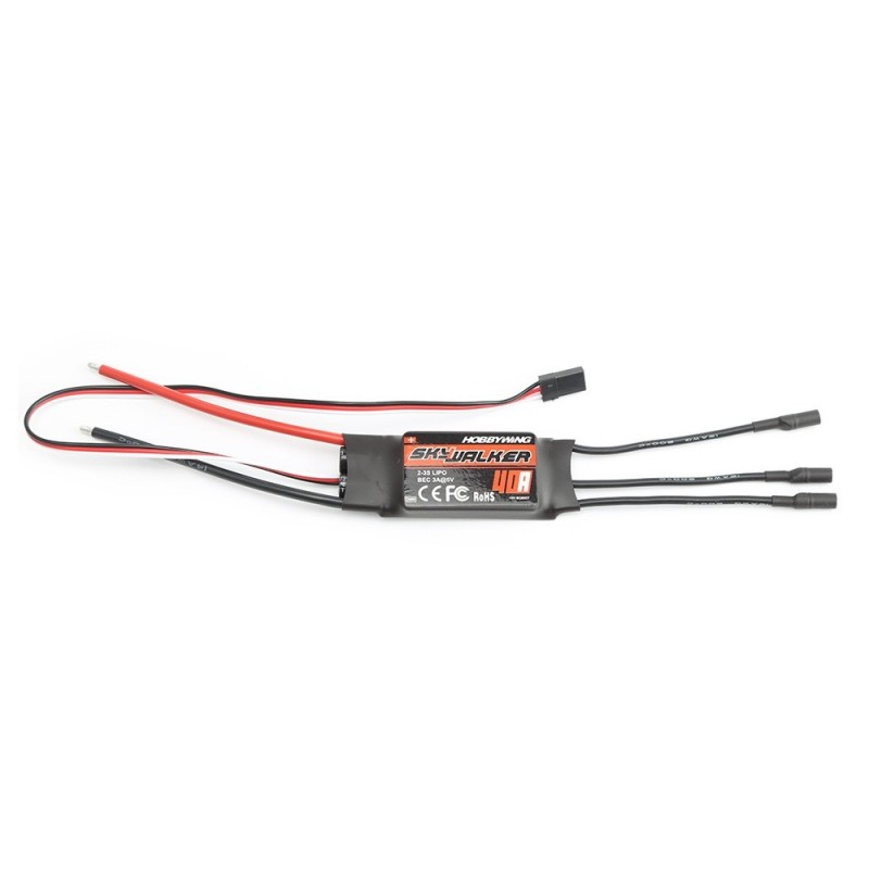 Hobbywing 40A 2 - 3S 5V 3A BEC ESC for Skywalker Series RC Drone - Black - 3W70847612