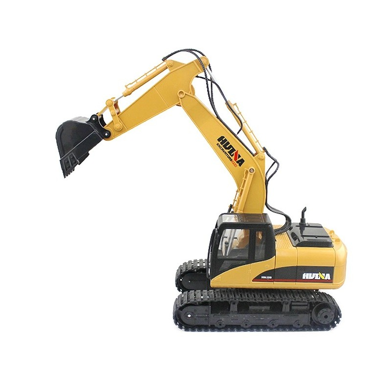 HUINA 1550 1:14 2.4GHz 15CH RC Alloy Excavator RTR with Independent Arms Programming Auto Demonstration Function - Yellow