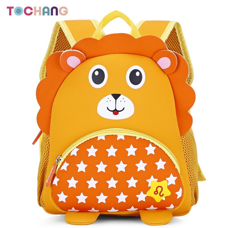 TOCHANG Kid Cartoon Constellation Backpack Cute School Bag - Bright Yellow - 3376212410