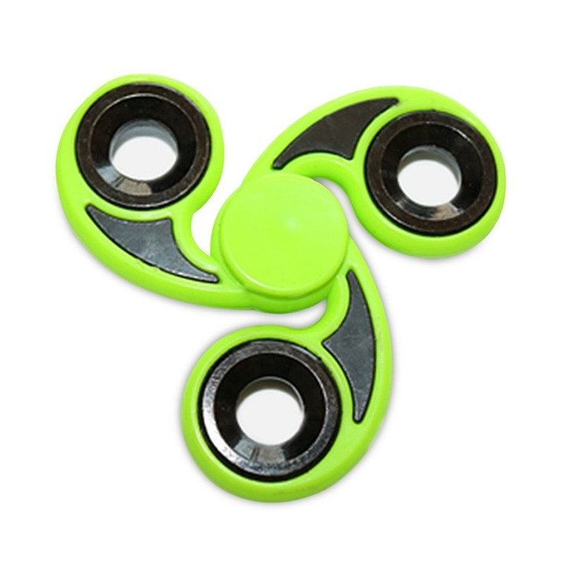 Stress Reliever Tri-Bar Finger Gyro Hand Spinner - Green - 3Q24517015