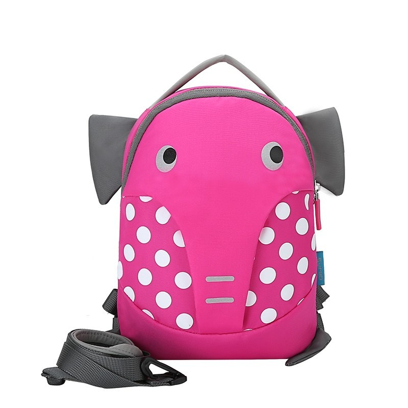 OIWAS Children Backpack Waterproof Rolling School Student Pack Bag Suitcase - Pink - 3T88069814