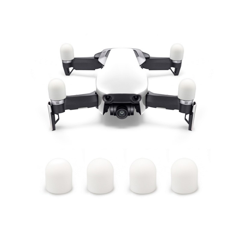 4PCS Silicone Motor Dustproof Protection Cap for DJI Mavic Air - White - 3V71899812