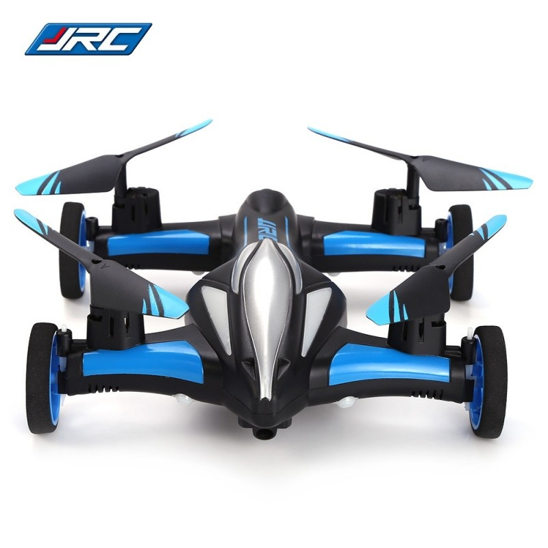 H23 2.4G RC Quadcopter Land / Sky 2 in 1 6 Axis Gyro UFO Headless Mode / One Key Return Feature - Blue And Black - 2098631712