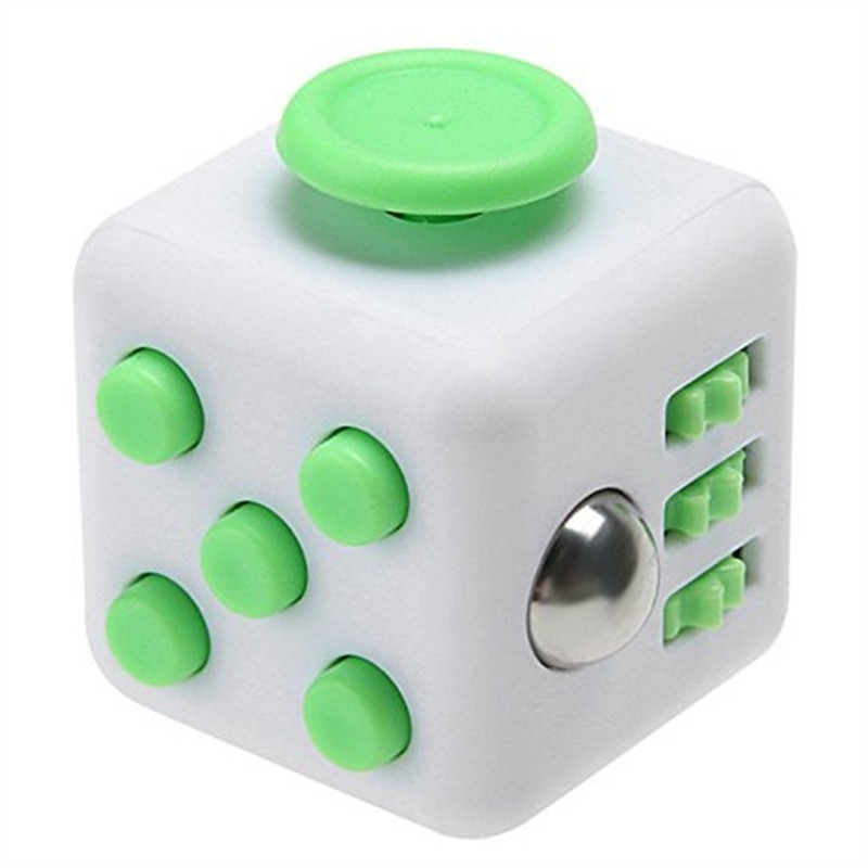 Fidget Dice Toy 6 Sides Release Stress Anxiety and Relax Magic Cube for Children and Adults - Mint Green - 3Q87006714