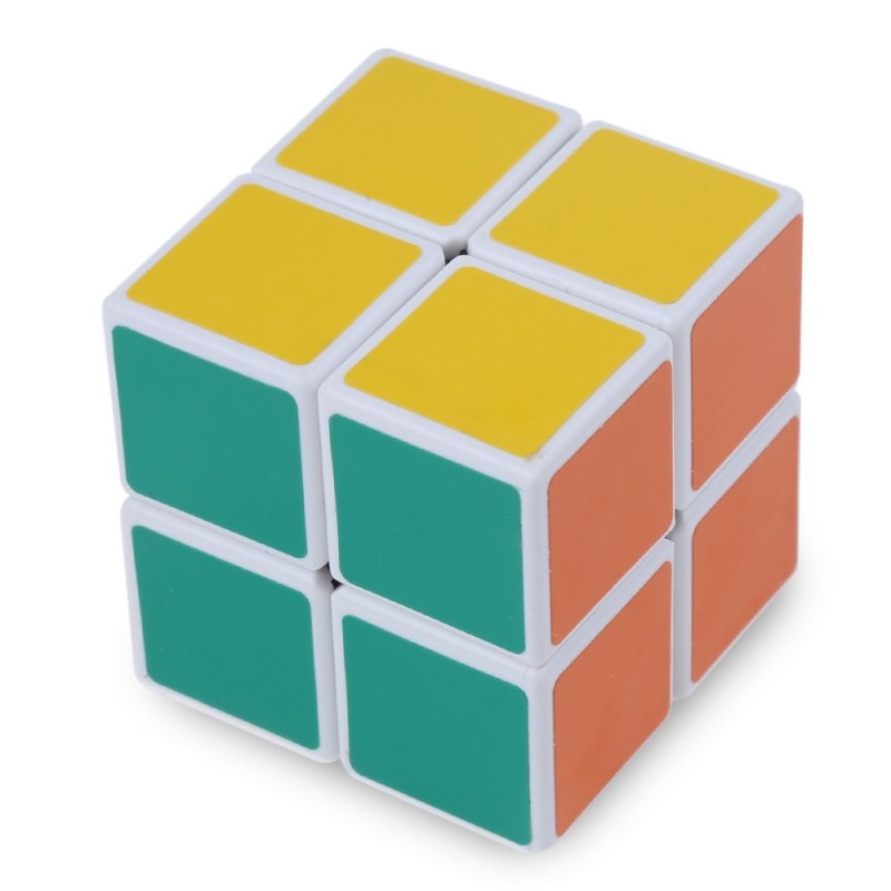 Shengshou Cube 2 x 2 x 2 Mini Cube White Base Fun Educational Toy - Colormix - 2V84280112