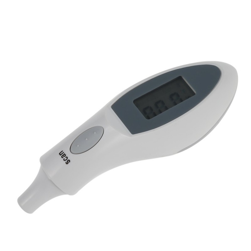 Infrared Ear Thermometer Body Temperature Measuring Device - White - 3H74784012