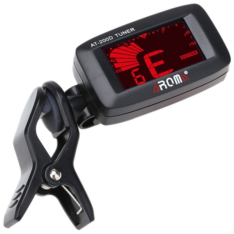 200D Portable Guitar Electric Tuner Color Screen Digital Design for Chromatic Guitar/ Bass / Ukulele / Violin - Black