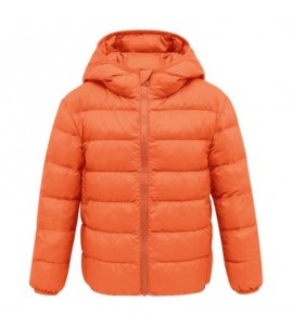 Lightweight Cotton-padded Unisex Coat for Children - Orange - 4642598419