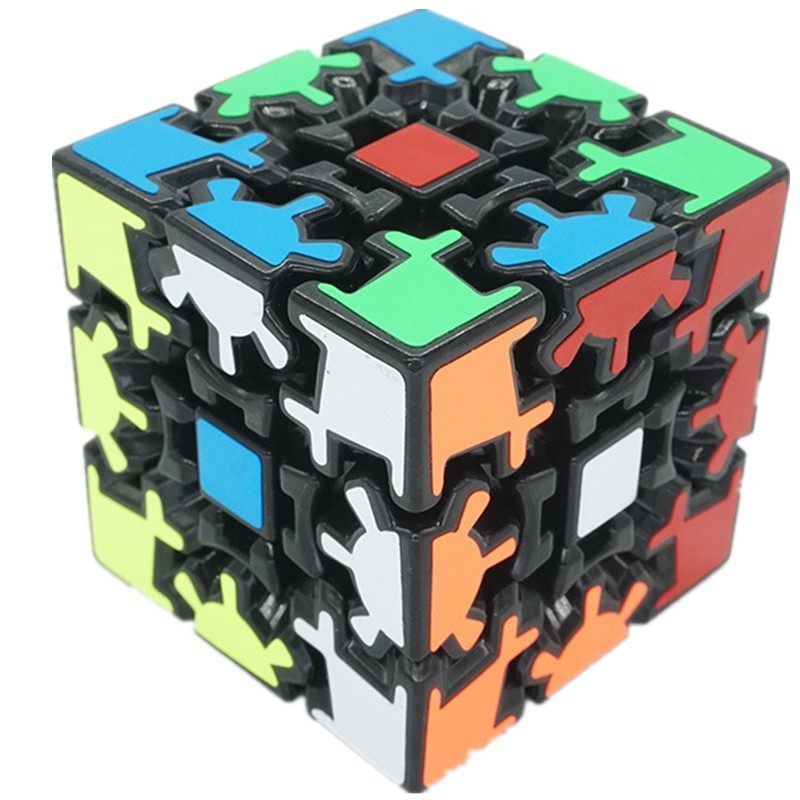 3D Gear Shape Puzzle Cube Education Cube Toy - Multi - 4691541312
