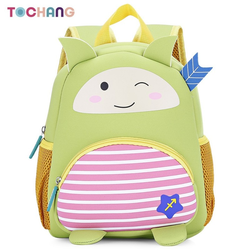 TOCHANG Kid Cartoon Constellation Backpack Cute School Bag - Yellow Green - 3T76212414
