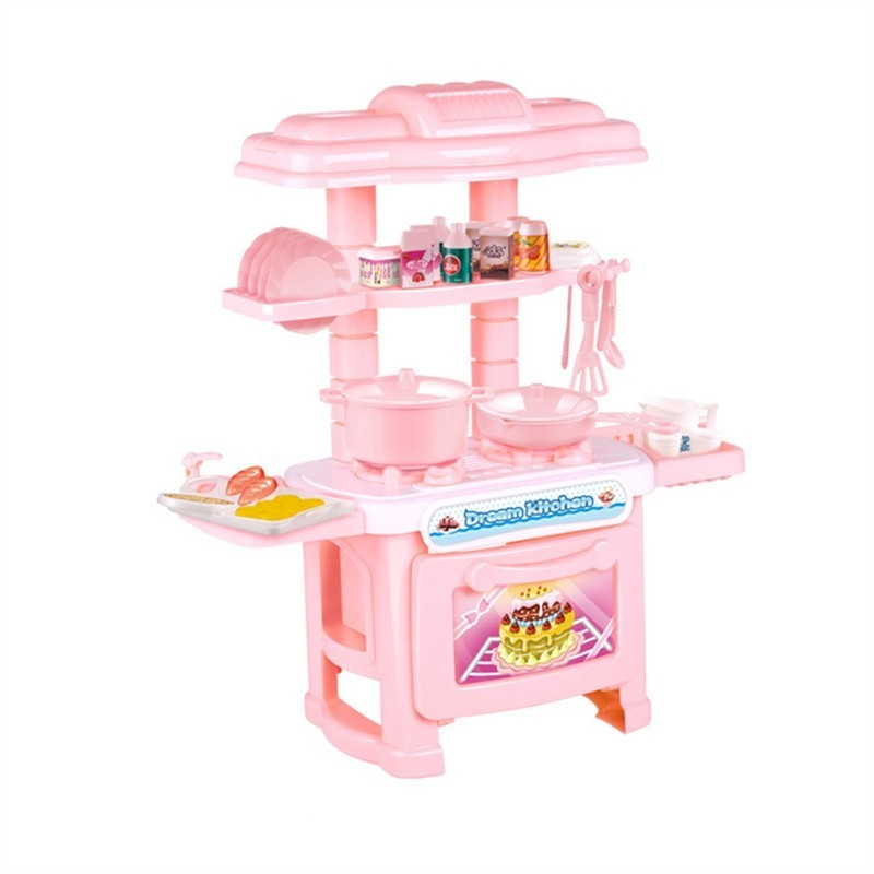 Cooking Utensils Kitchen Toys Suit Girl Simulation - Pink - 3V75320412