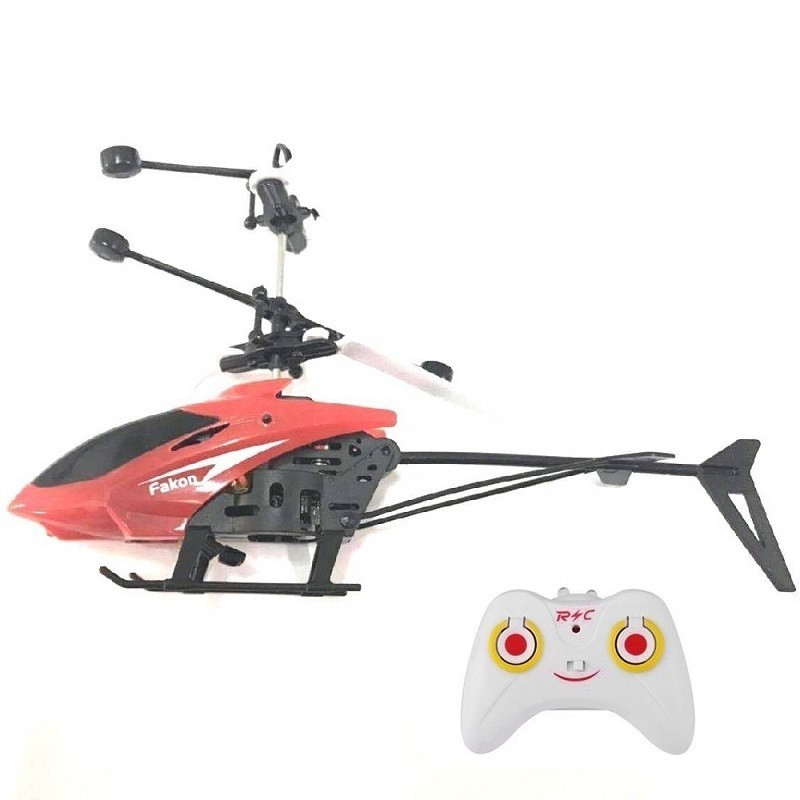 RC Hand Induction Flying Aircraft Helicopter Toys for Kids - Red - 4W18769413