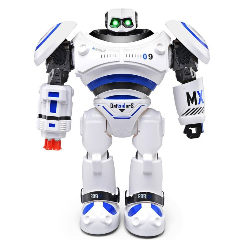 Defenders Infrared Control Robot RTR Programmable Movement / Missile Shooting / Sliding Walking Dancing Mode - Blue