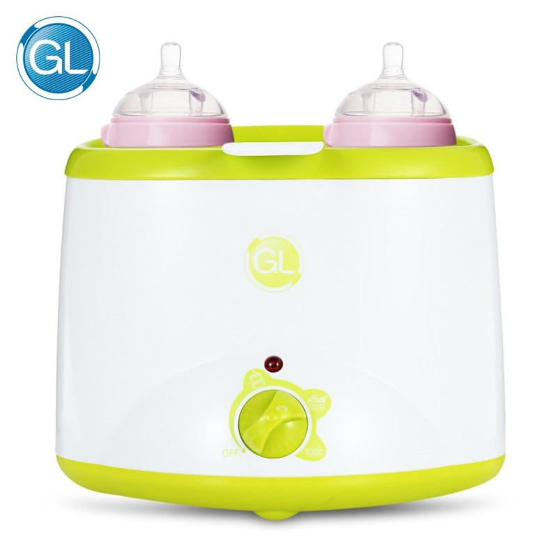 GL GLNQ809 Electric Milk Warmer Baby Double Bottle Sterilizer - White - 3W35769913