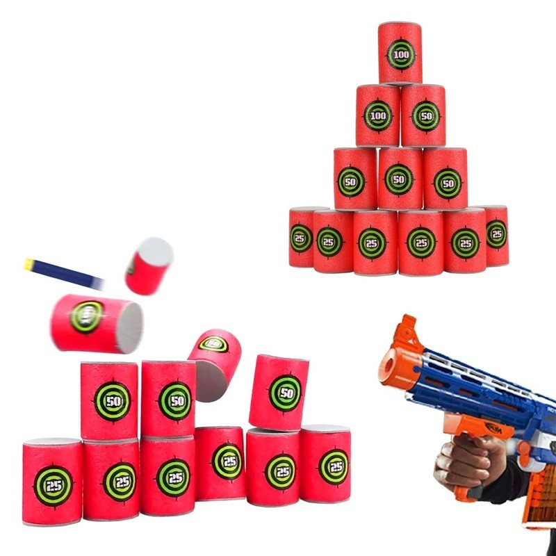 EVA Soft Bullet Target for Nerf N-strike Blasters Pack of 12pcs - Valentine Red - 3L71654712