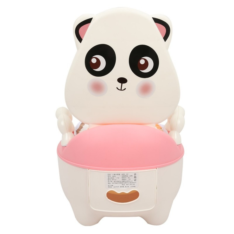 Children Cartoon Potty Toilet Urinal for Male and Female Baby - Pink - 3F83276213