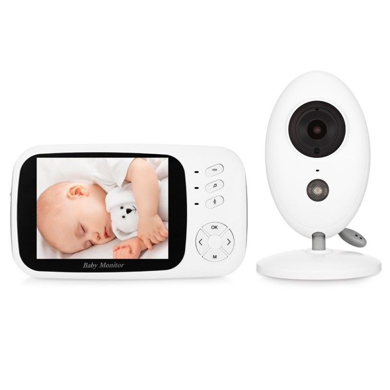 XF808 Wireless Digital Video Baby Monitor Night Vision Temperature Sensor - White - 3Y92757814
