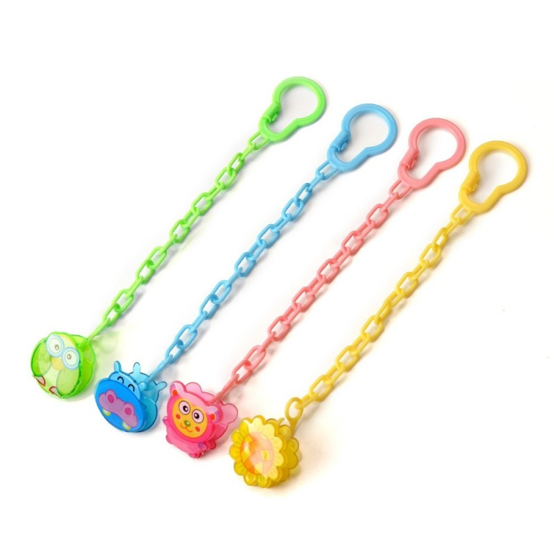 Baby's Pacifier Chains 4 Pcs Cute Cartoon Baby's Pacifier Chain - Multi - 4W87984812