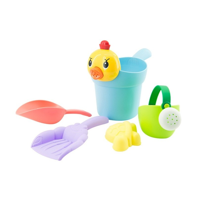 Beach Baby Bathroom Shower Toy Set with Water Scoop 5pcs - Multi - 5653949612
