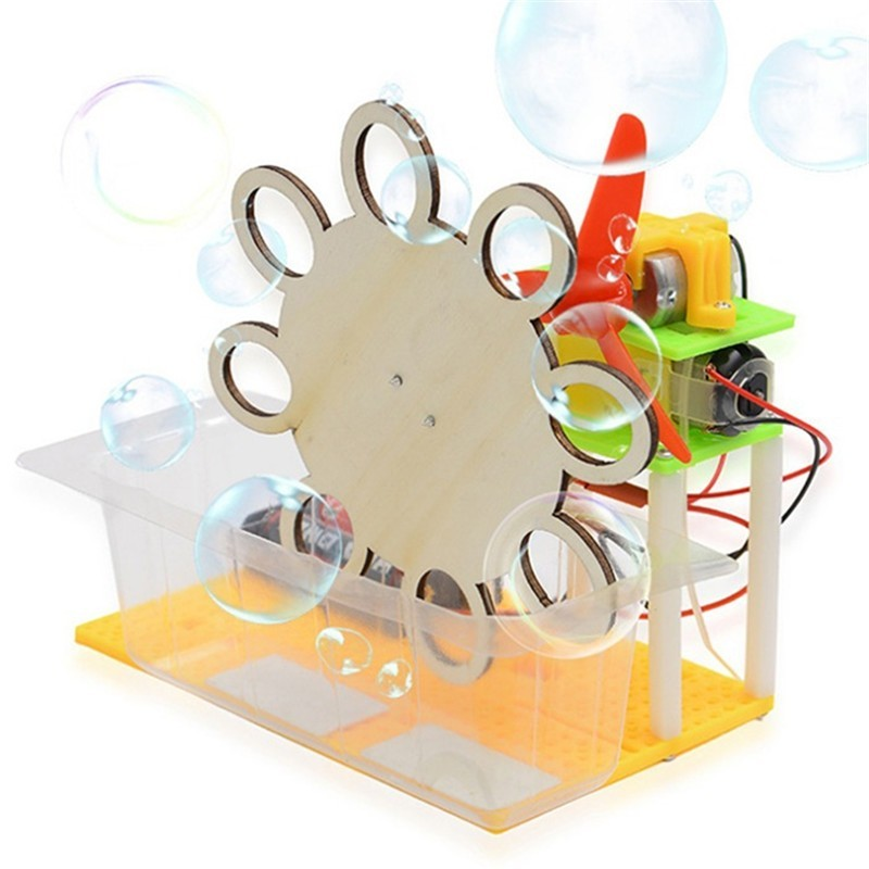 DIY Electric Bubble Machine Children Science Education Toy - Multi - 4B64122112
