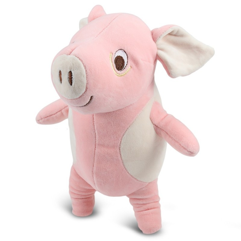 Plush Doll Soft Toy Pig Elephant Cushion Transformed U Type Pillow Gifts - Pink - 3O81417515