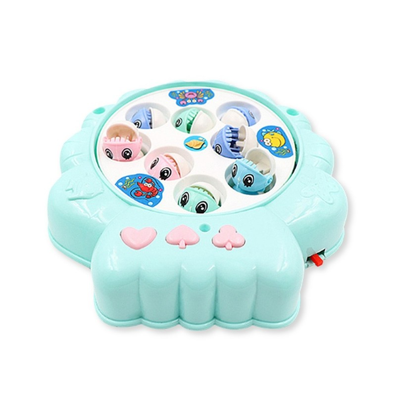 Children's Puzzle Shell Electric Fishing Toy - Blue - 5Y53436512