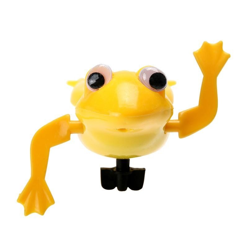 Clockwork Wind Up Plastic Swimming Frog - Yellow - 4323270012
