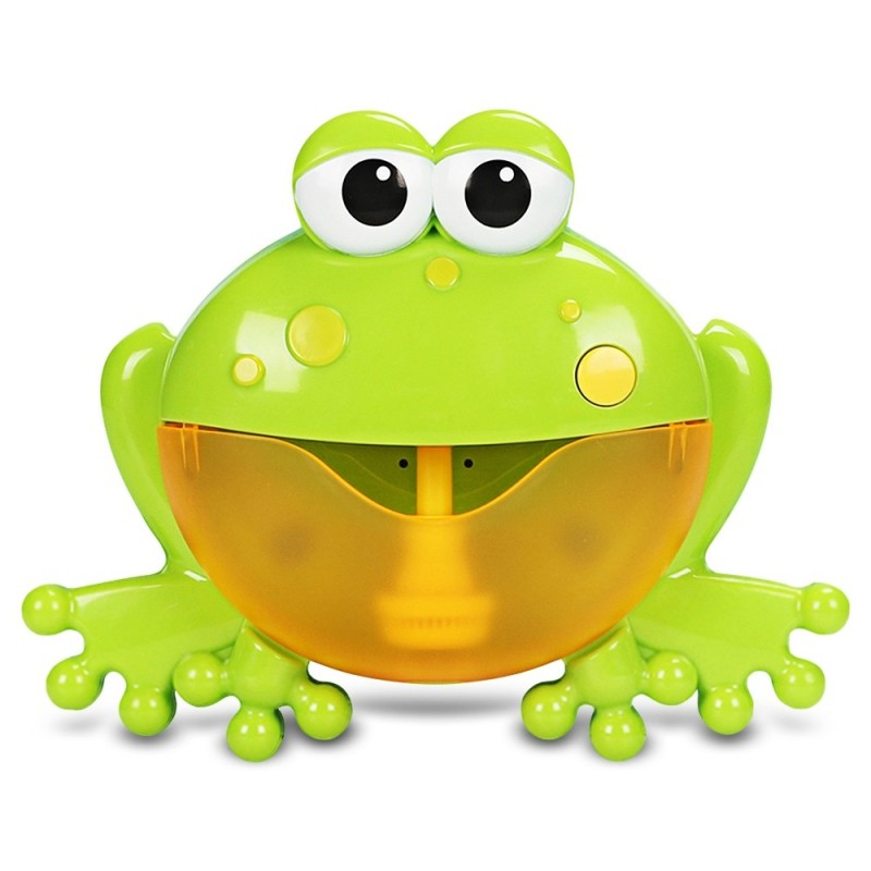 Frog Shape Spit Bubble Machine Bath Toy with Music - Green - 5948022012