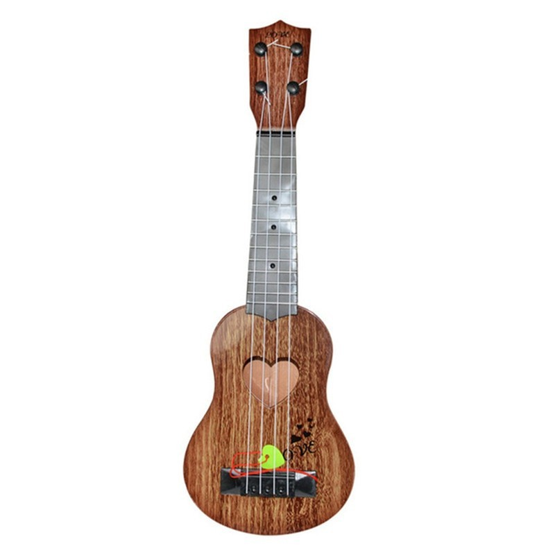 Mini Classical Ukulele Guitar 4 Strings Educational Musical Instrument Toy - Tan - 5310087312