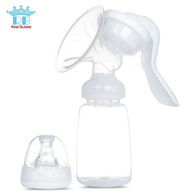 RealBubee Manual Breast Pump Baby Breastfeeding Milk Bottle - White - 3U46088112