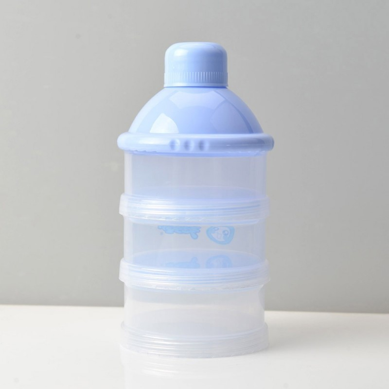 1pc Baby's Milk Powder Storage Box 3 Layers Convenient Baby Product - Light Sky Blue - 4S83402812