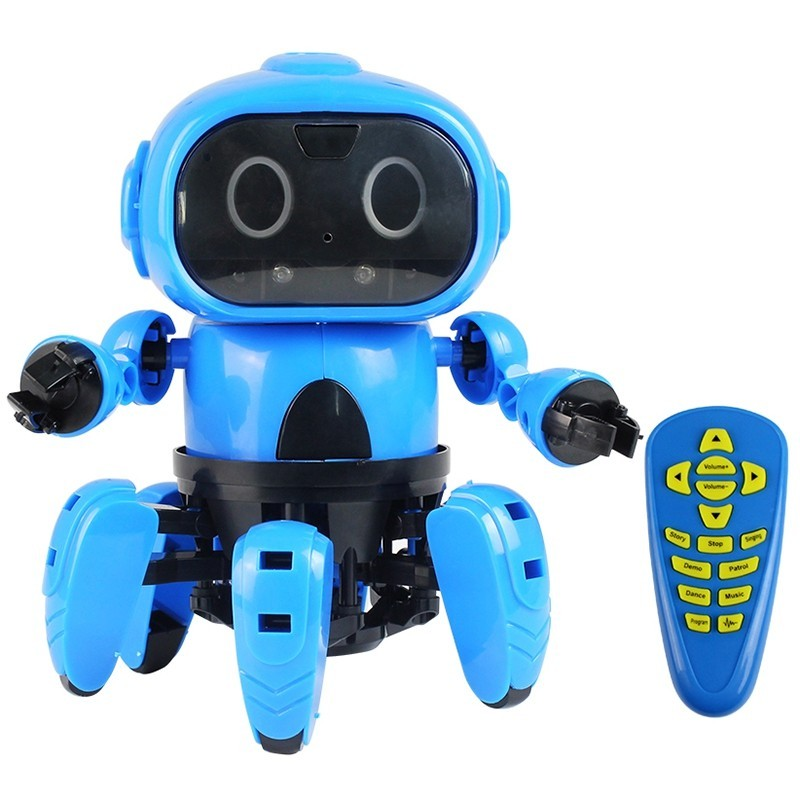 MoFun 963 DIY Assembled Electric Robot Induction Educational Toy - Dodger Blue - 5628932112