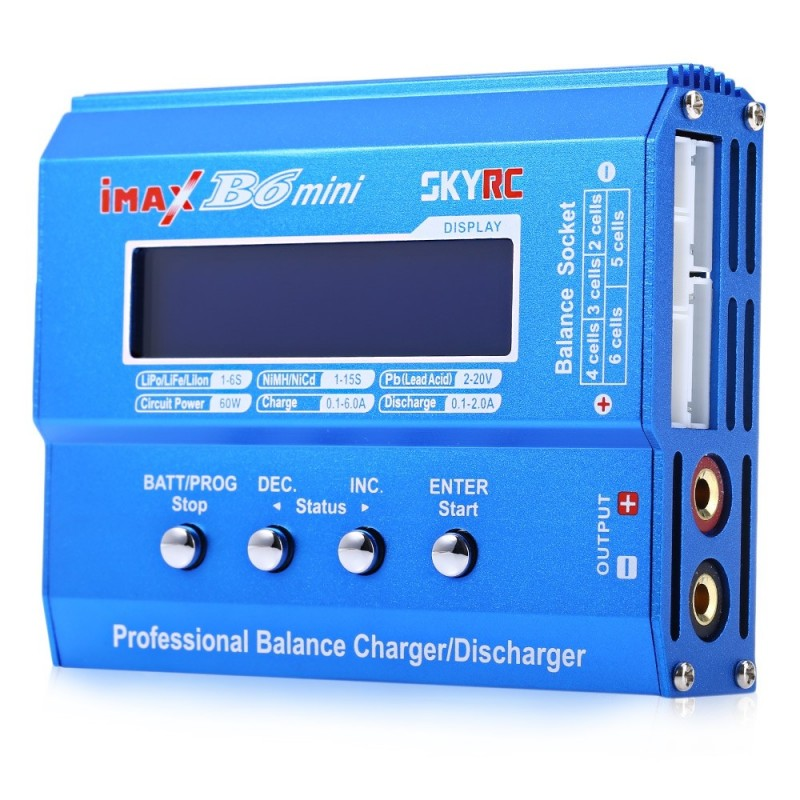 Genuine SKYRC iMAX B6 Mini Balance Charger / Discharger for RC Aeromodelling Battery - Blue - 2R38468212