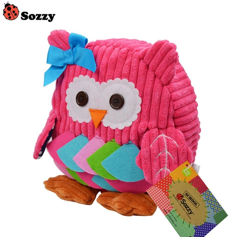 SOZZY Cartoon Animal Backpack Snacks Bag for Children Kids - Pink - 3M72392612