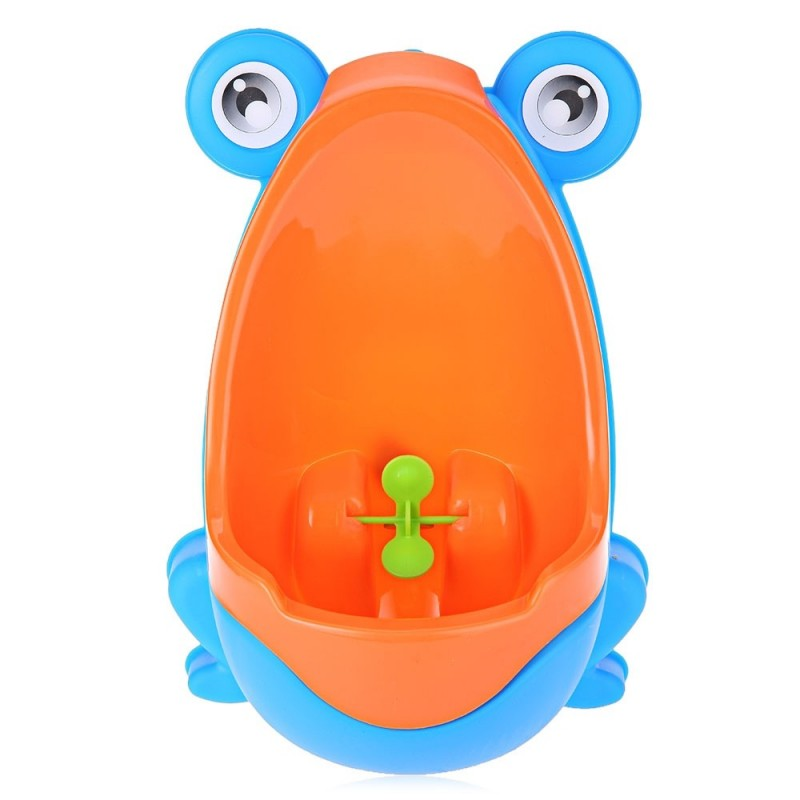 Separable Suspensible Lovely Frog Shape Boys Standing Urinal - Crystal Blue - 2E84518315