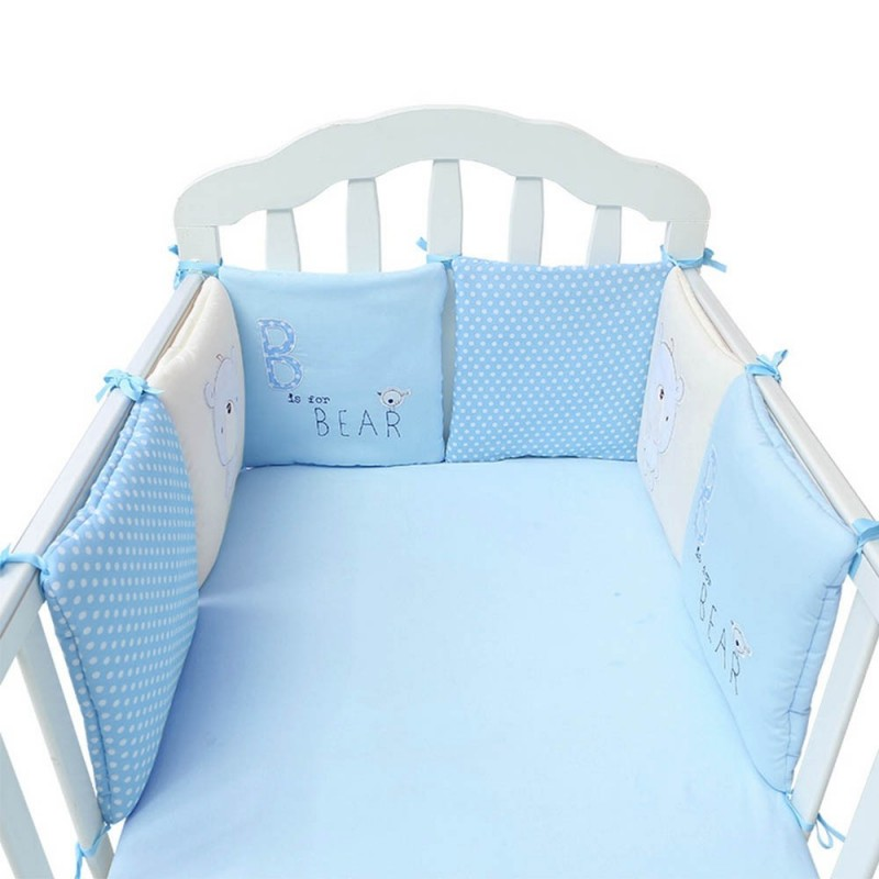 Cartoon Printing Baby Crib Bumper Combination Backrest Cushion - Multi-A - 3746443612