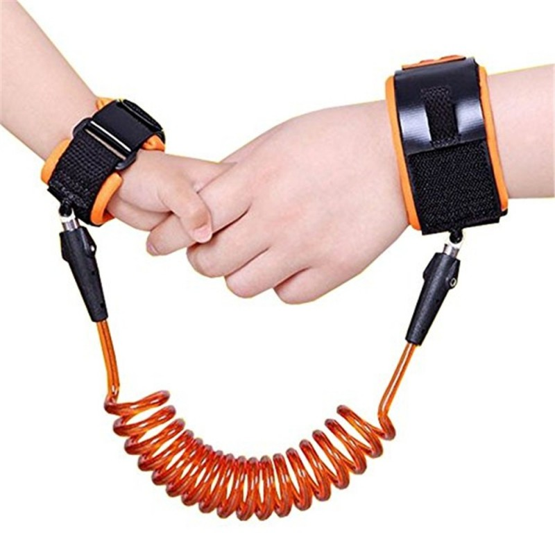 Baby Child Anti Lost Safety Wrist Link Harness Strap Rope Leash Walking Hand Belt Band Wristband for Toddlers - Orange