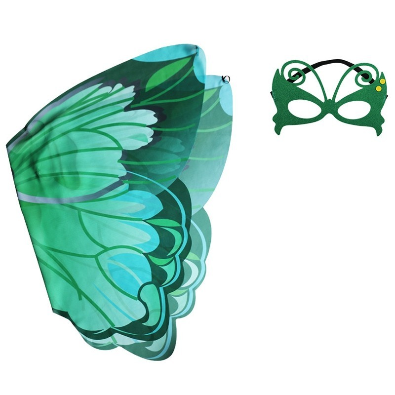 Children's Butterfly Wings Summer Outdoor Games Classic Toy Set - Green - 5V54990313