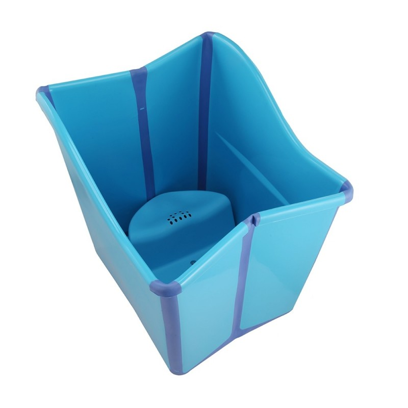 Large Thickened Folding Baby Bath Tub - Blue - 3H47869814
