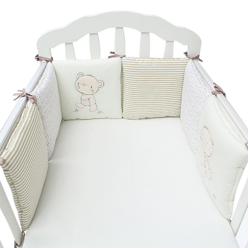 Cartoon Printing Baby Crib Bumper Combination Backrest Cushion - Multi-C - 3246443614