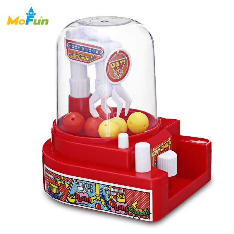 HC0025 Creative Mini Candy Grabber Catcher Small Ball Crane Machine - Red - 3M02160312